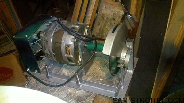 Мездрильный станок из двигателя от стиральной машины