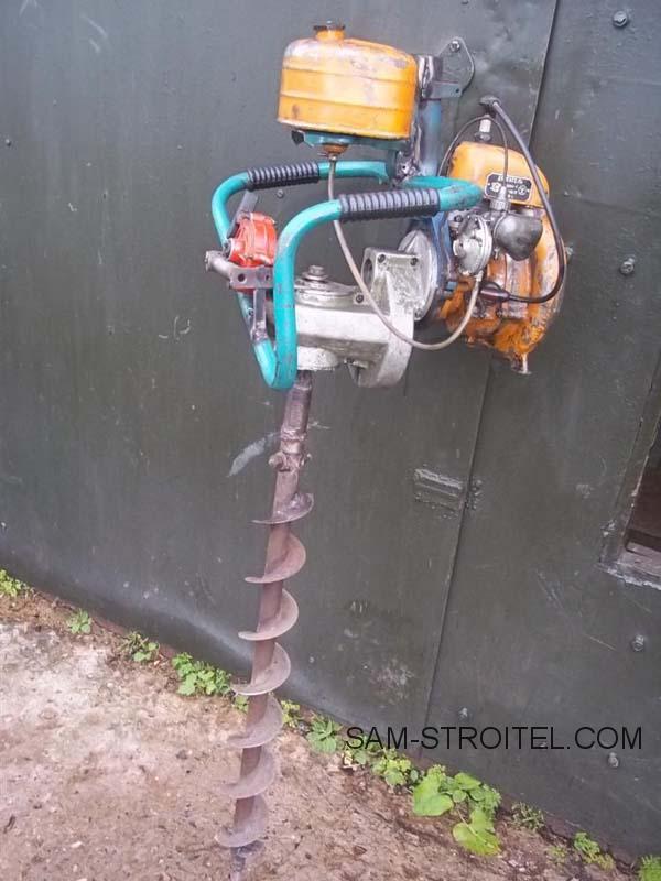 Мотобур своими руками из бензопилы