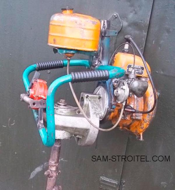 Мотобур из бензопилы