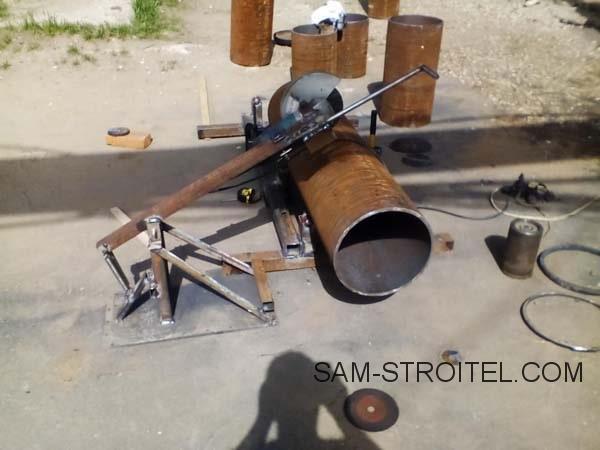 Приспособление для резки труб болгаркой