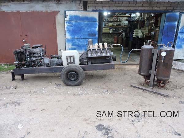 Самодельный компрессор из ДВС ЗИЛ-130