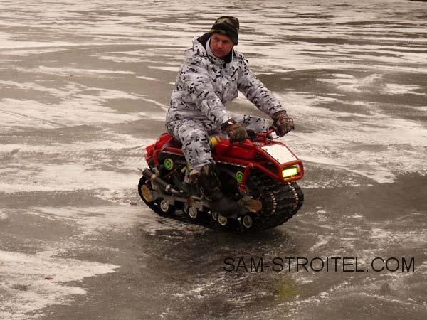 мотоцикл на гусеничном ходу