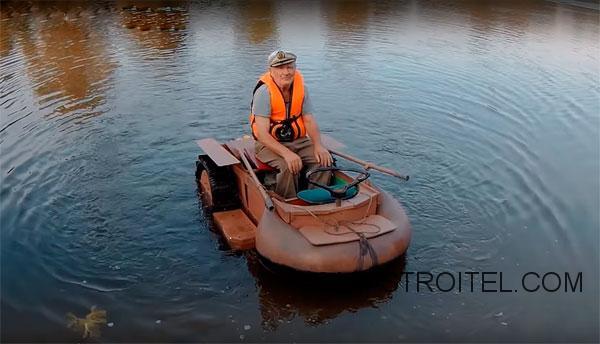 лодка с колёсами