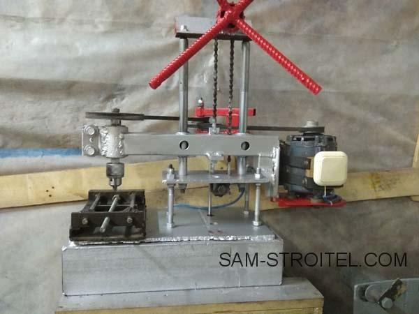 самодельный сверлильный станок из двигателя стиральной машины