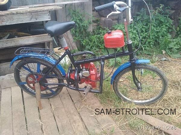 Велосипед с мотором от бензопилы