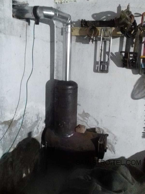 печь из газовых баллонов