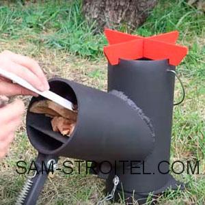 самодельная печь из огнетушителя