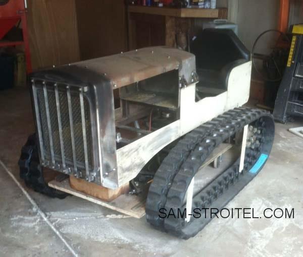 гусеничный мини трактор