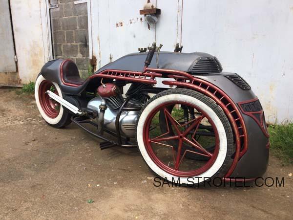 Самодельный мотоцикл стимпанк