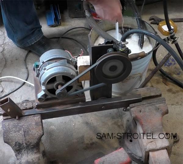 Самоделка из двигателя от стиральной машины