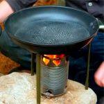 самодельная походная печь