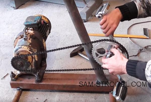 Самодельный генератор с приводом от велосипеда