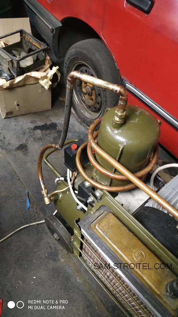 компрессор из компрессора ЗИЛ 130