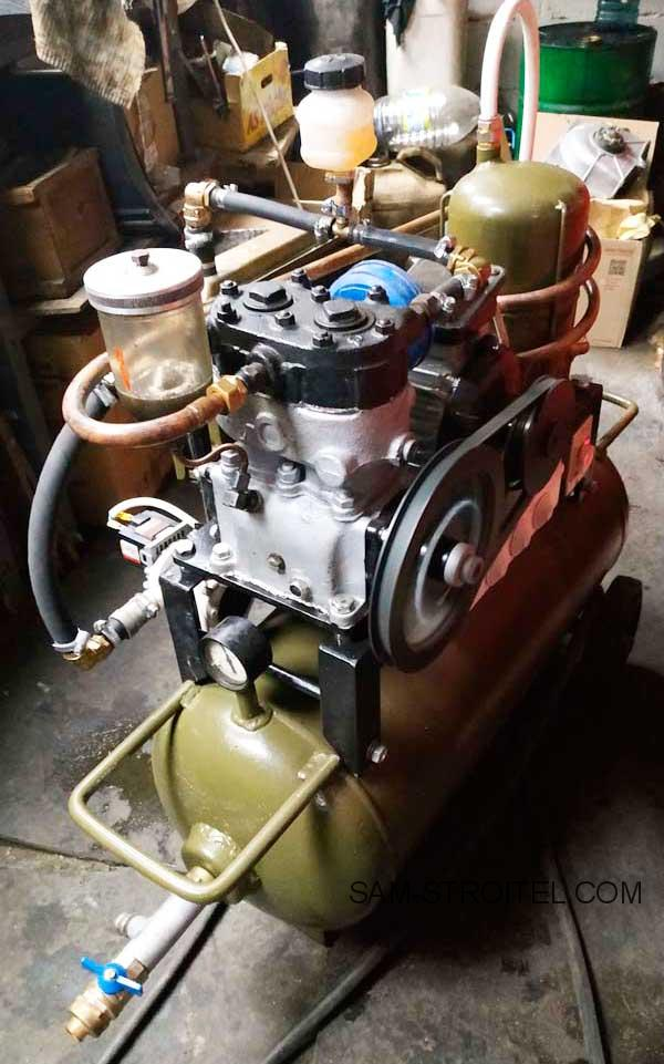 Самодельный компрессор из компрессора ЗИЛ 130