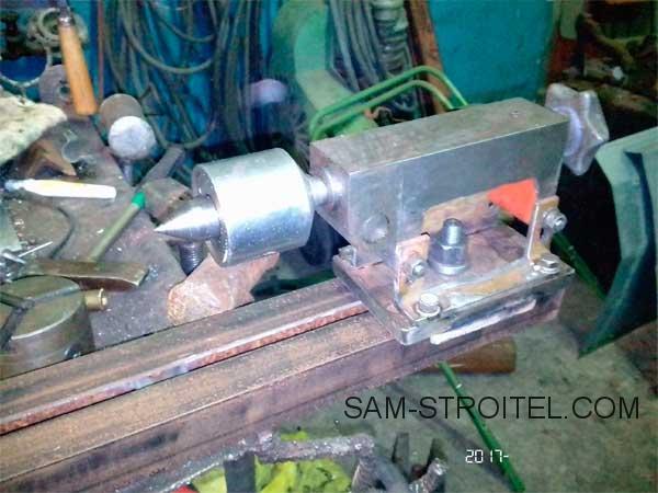 самодельная задняя бабка токарного станка