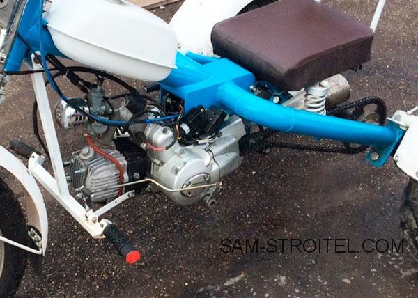 самодельный трицикл из мопеда