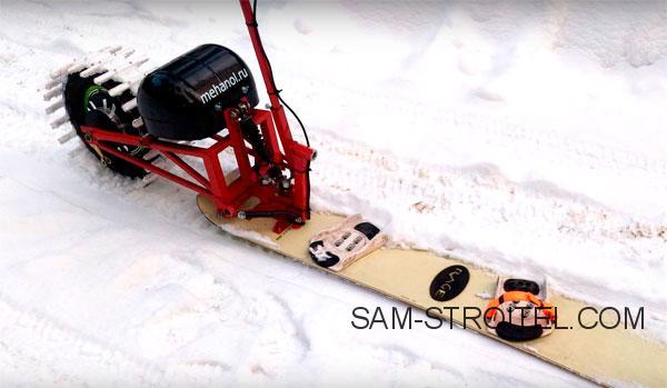 сноуборд с электродвигателем
