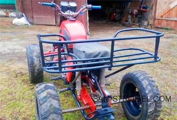Самодельный квадроцикл из мотоцикла Иж