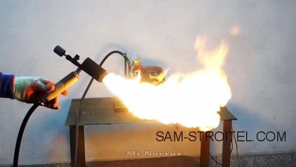самодельная бензиновая горелка