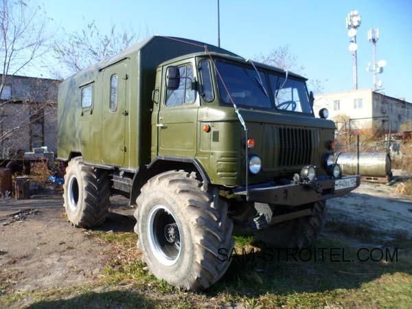 переделка колёс на ГАЗ-66