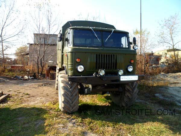ГАЗ-66 с колёсами