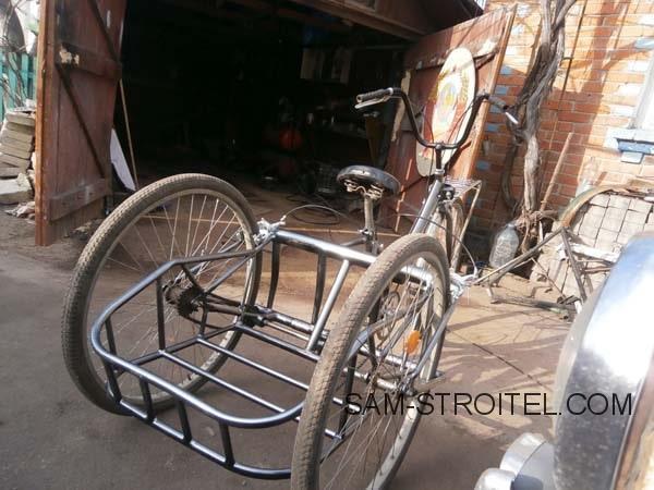 Трехколесный велосипед для взрослых самодельный