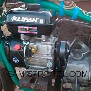 мотоцикл Урал с двигателем мотоблока