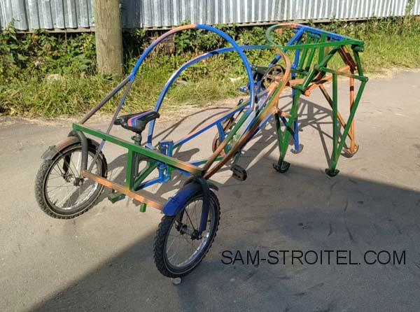 самодельный шагающий велосипед