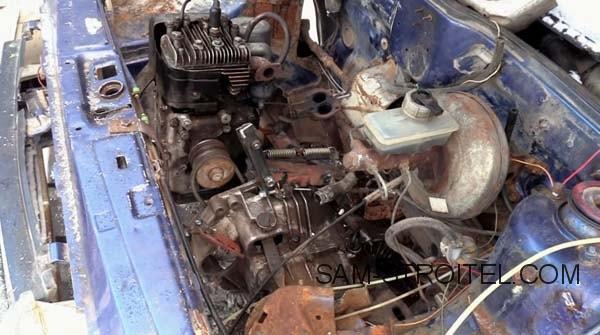 ВАЗ с двигателем от мотоблока