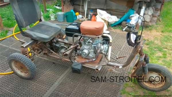 Установка двигателя от мотоблока на мотороллер