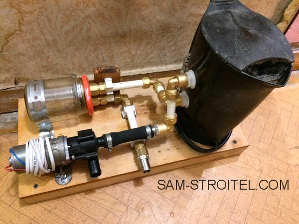 приспособление для промывки радиатора отопителя