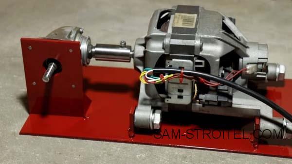 самодельный станок из двигателя от стиральной машины