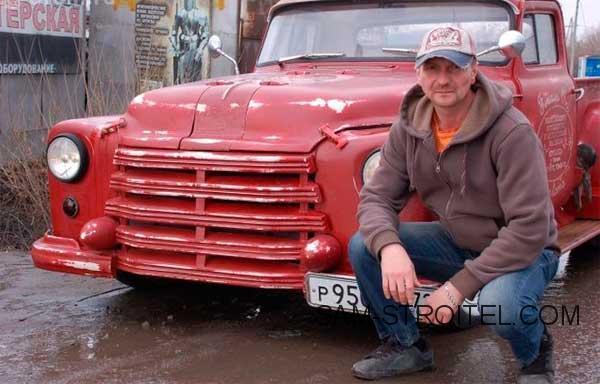 Авто самоделка пикап с кабиной ГАЗ-53