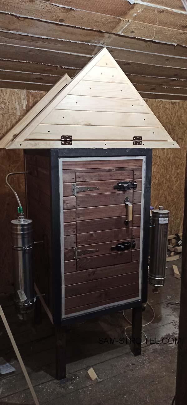 деревянная коптильня холодного копчения