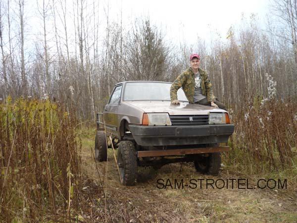 самодельный вездеход 4х4 из ВАЗ-2108