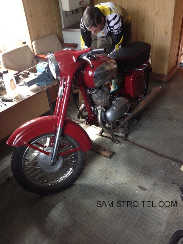 Реставрация мотоцикла Jawa