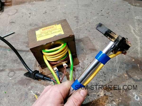 Самодельный сварочный аппарат для сварки медных проводов